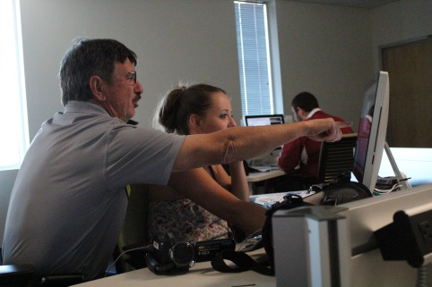 Photo By: Bryce Patterson SJI students in the digital program.